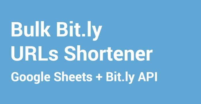 Bulk Bit.ly URLs Shortener - 2018
