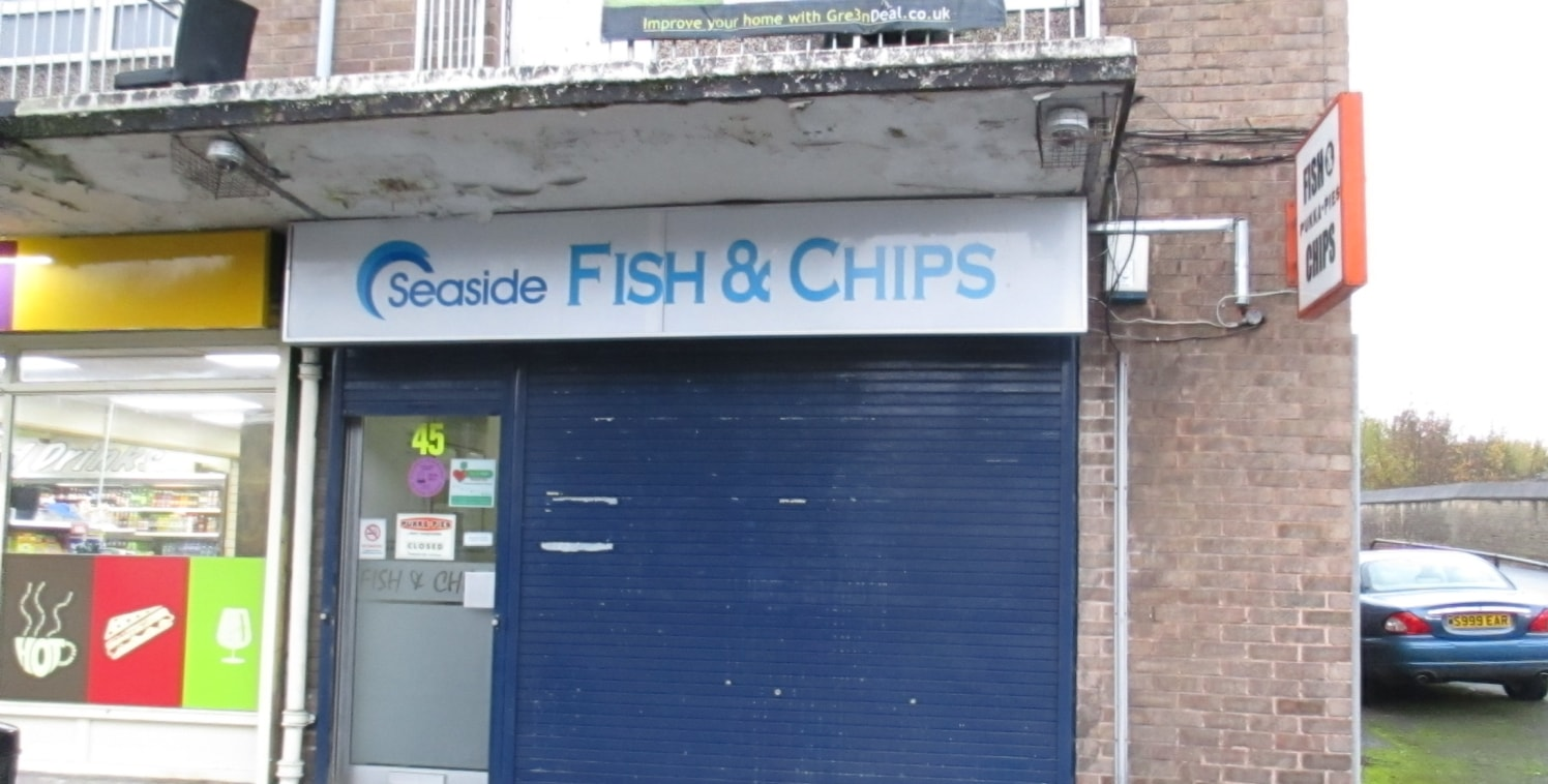 Sales Area 34m2 (365 sq. ft.) plus preparation area 18m2 (199 sq. ft.).\n\nFormer fish and chip shop situated on Wharncliffe Road, overlooking Valley Road (A6037). The shop front has the benefit of security shutters....