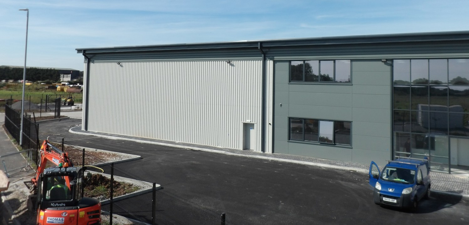 New Build Warehouse / Industrial Unit  Semi Detached   Steel Portal Frame Construction  Self Contained Loading Yard  Eaves Height 7 Meters