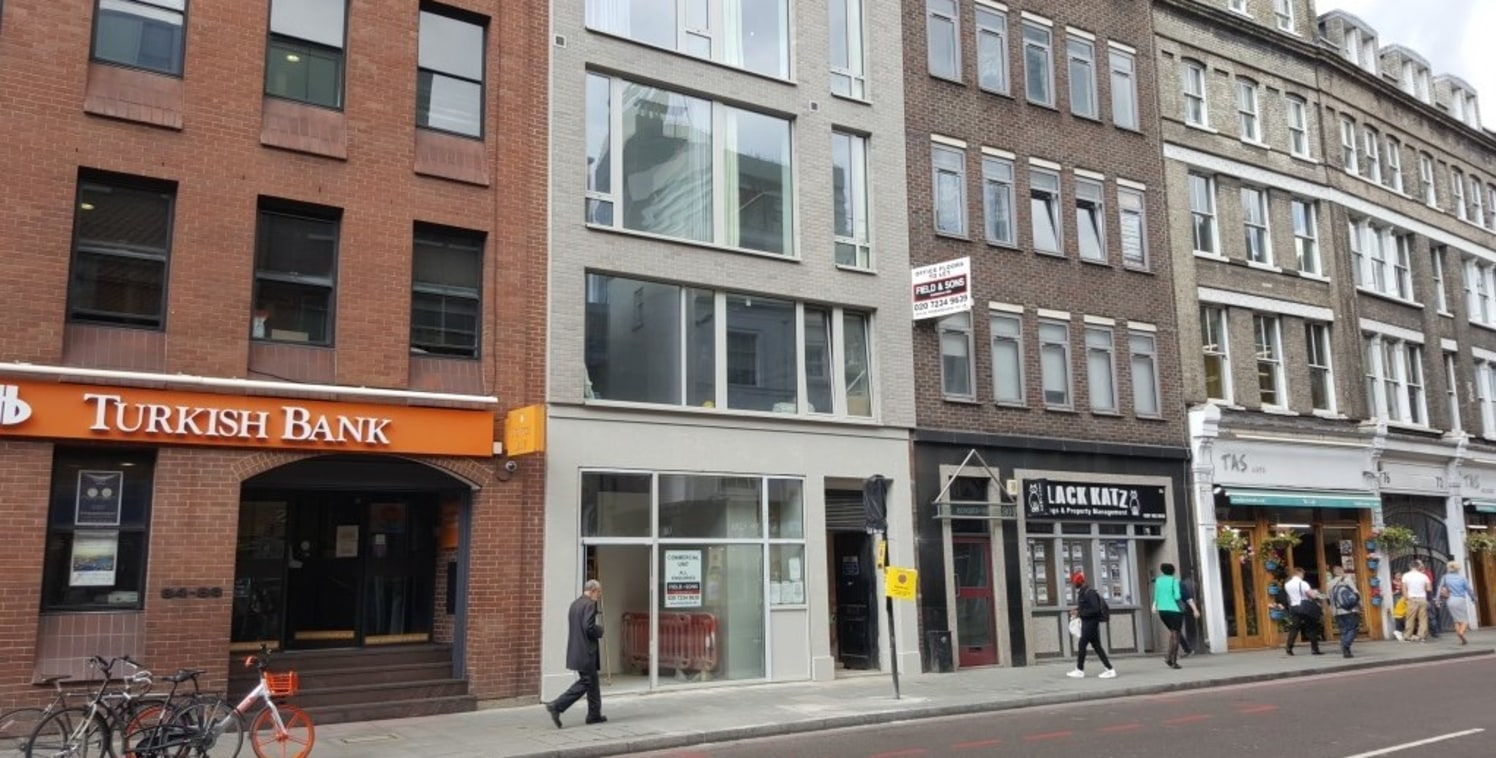 The available accommodation comprises the first floor of this mid-terrace mixed use building, newly refurbished throughout and arranged as open plan space with glazing to the front and lantern style roof light at the rear, with kitchen, male and fema...