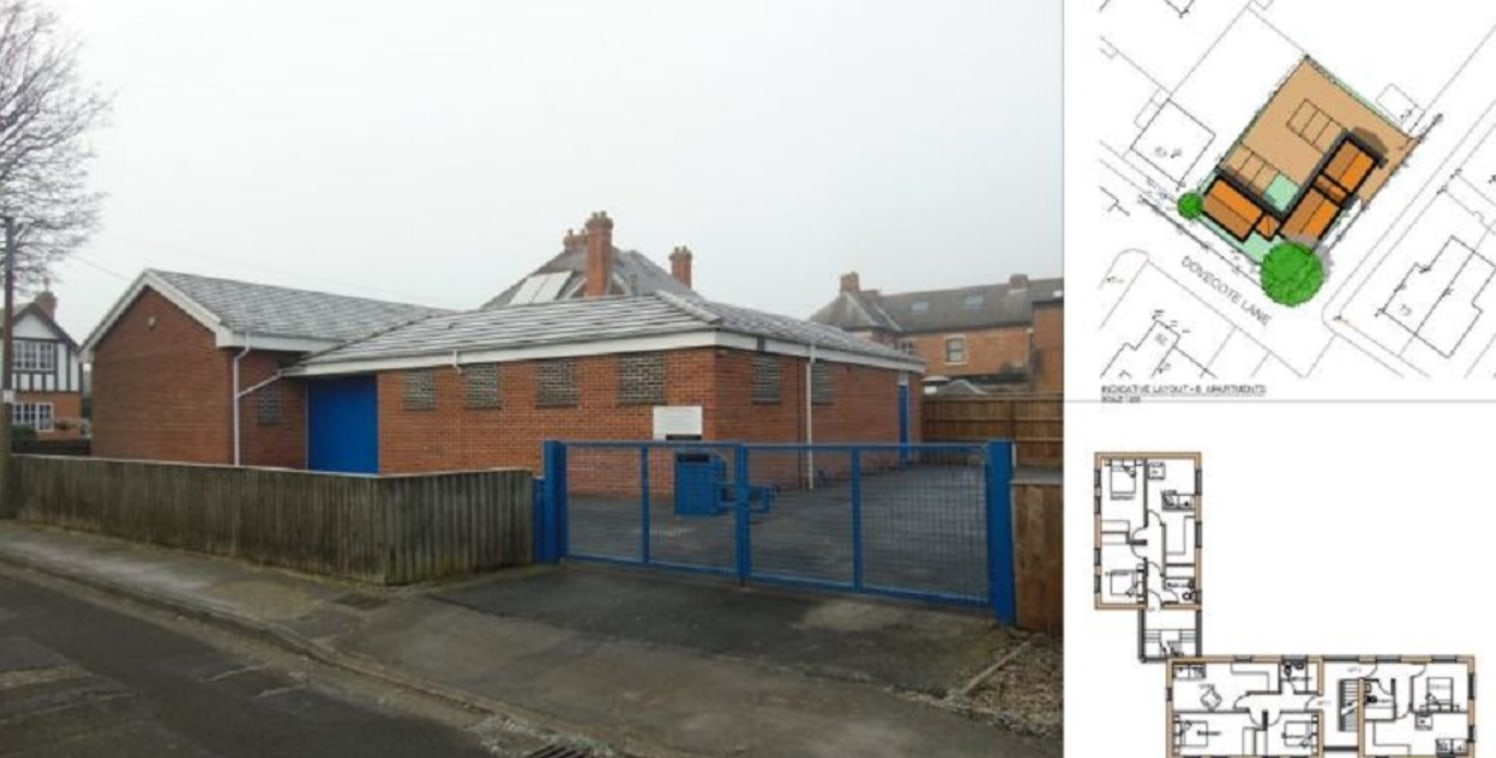 The former Church Hall is located on the corner of Dovecote Lane/Grove Street and comprises a detached single storey building of traditional masonry construction with facing brick elevations surmounted by a pitched tiled roof.   Internally, the prope...