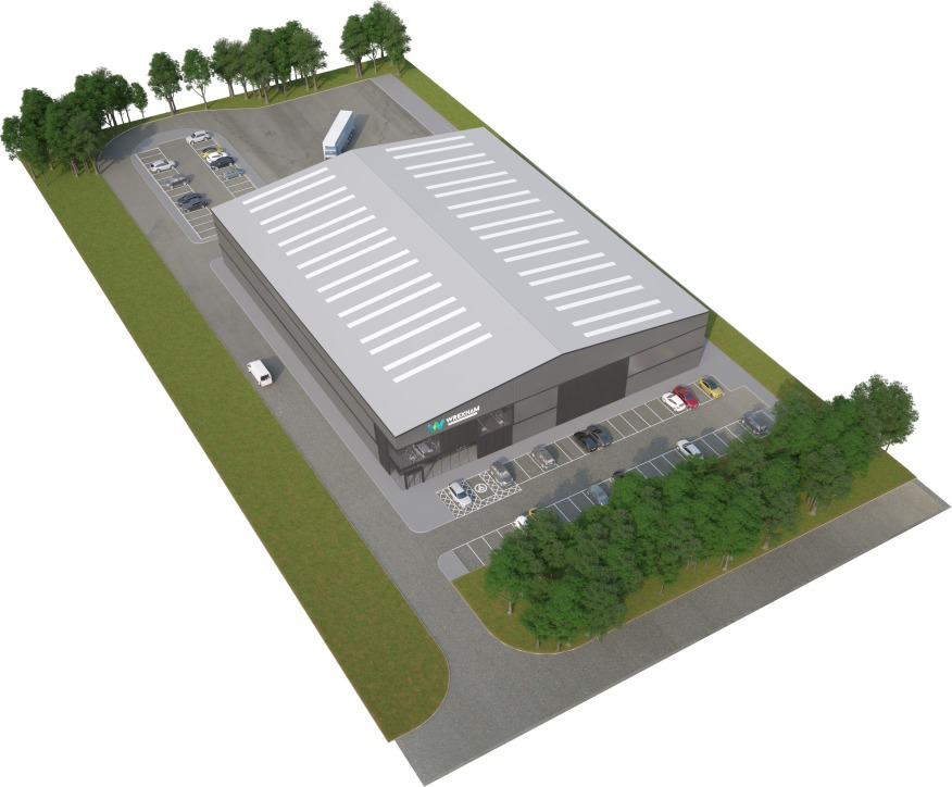 New industrial / warehouse units.  Bespoke fit out available.  50,000 sq ft on 2.7 acres  Rental - On Application  *Planning Granted*