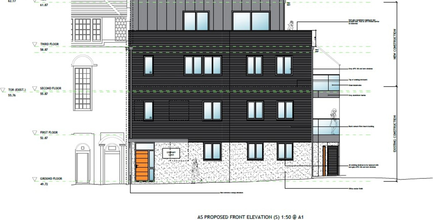 Development Opportunity   Planning permission granted to create 2 additional floors  for residential use.