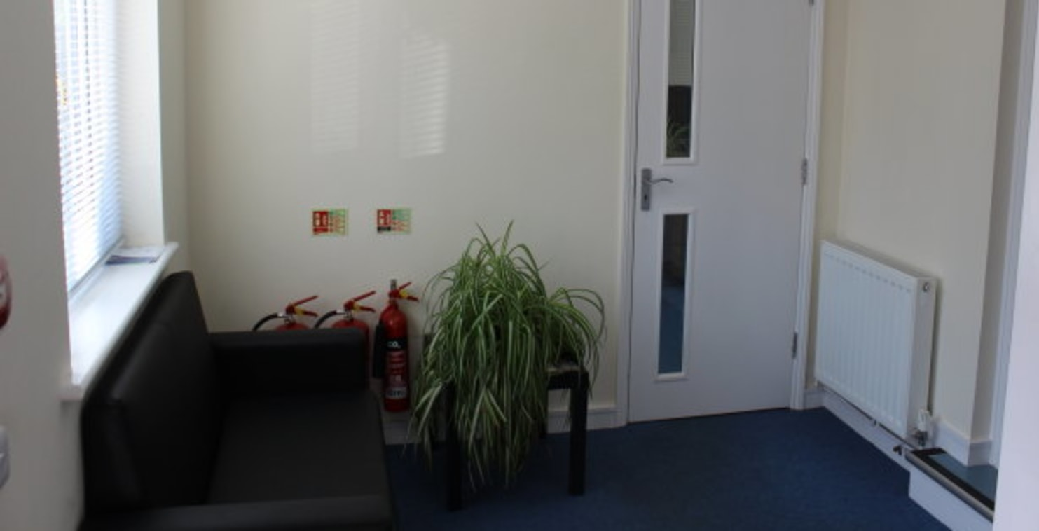 The premises comprise a modern office suite at first floor level:\n\n* Gas fired central heating\n\n* Entry phone system\n\n* Shared use of meeting room and\n\nkitchenette\n\n* WC facilities and...
