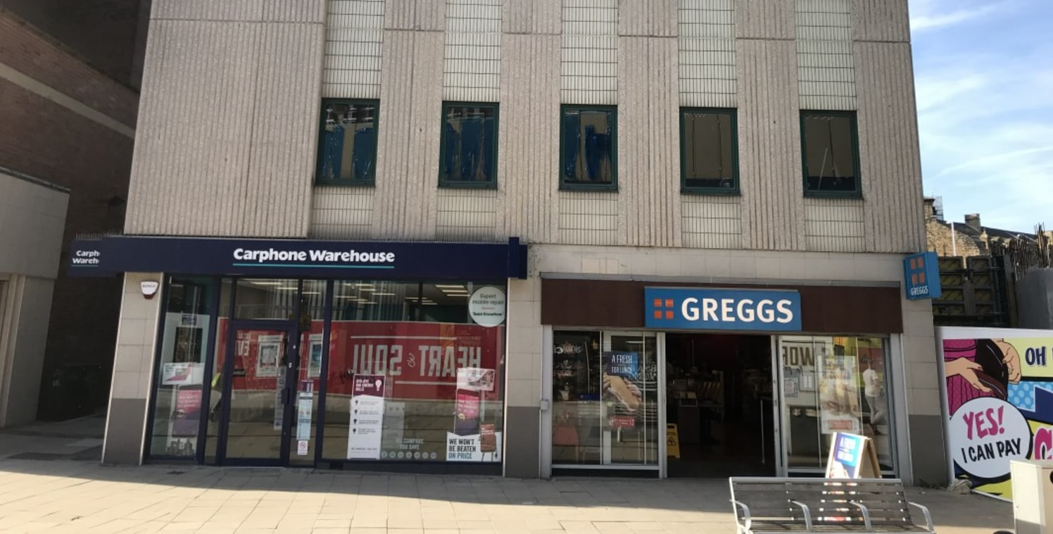 <p>A single block in the centre of Barnsley let to&nbsp;Carphone Warehouse and Greggs with offices above. Opposite Marks and Spencer and within walking distance of the Alhambra Shopping Centre.</p><ul>  <li>Second floor offices</li>  <li>Toilet and k...