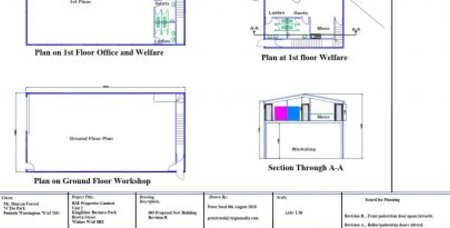 A rare opportunity to rent a newly constructed workshop with office accommodation above. The plans of the proposed layout and elevations are attached to this listing.<br><br>The premises is due to comprise a ground floor workshop with working height...