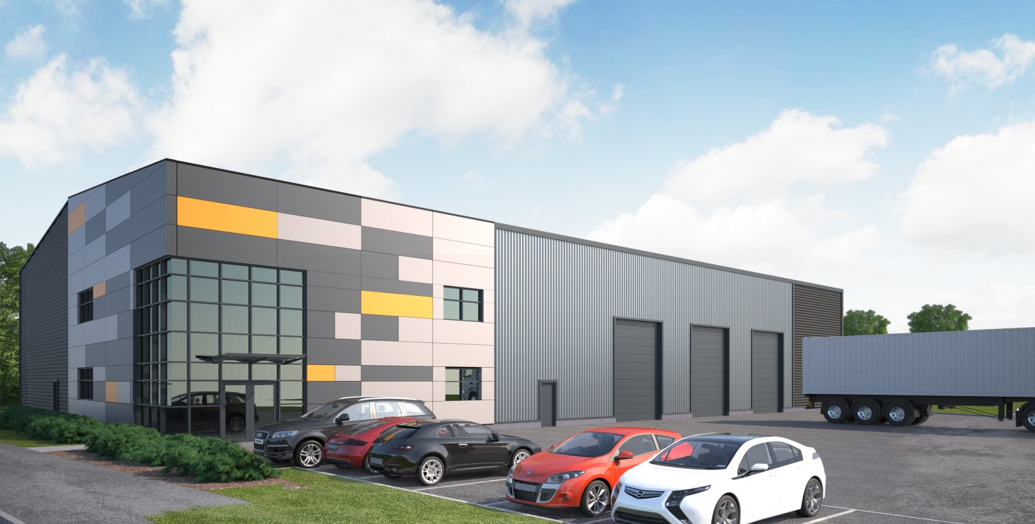 Potential new build industrial unit. Full planning consent in place. Delivery within 12 months. 8m eaves. 3 level access loading doors. Floor loading 50kn/m2. Secure yard. 12 car parking spaces. 2000 sq ft office at first floor.