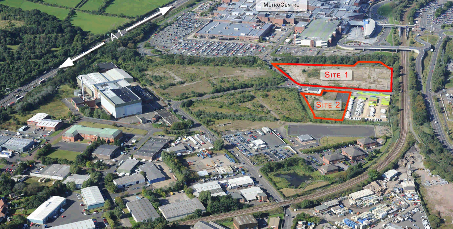 Freehold development land. Close to Intu Metro Centre.