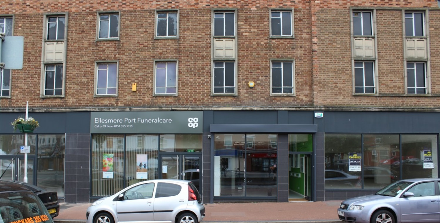 <p>A busy and popular terrace of high street retail units in the centre of Ellesmere Port. Located just North of the Port Arcades Shopping Centre, the property provides a substantial A1 &amp; A2 retail offer with parking directly outside. The propert...