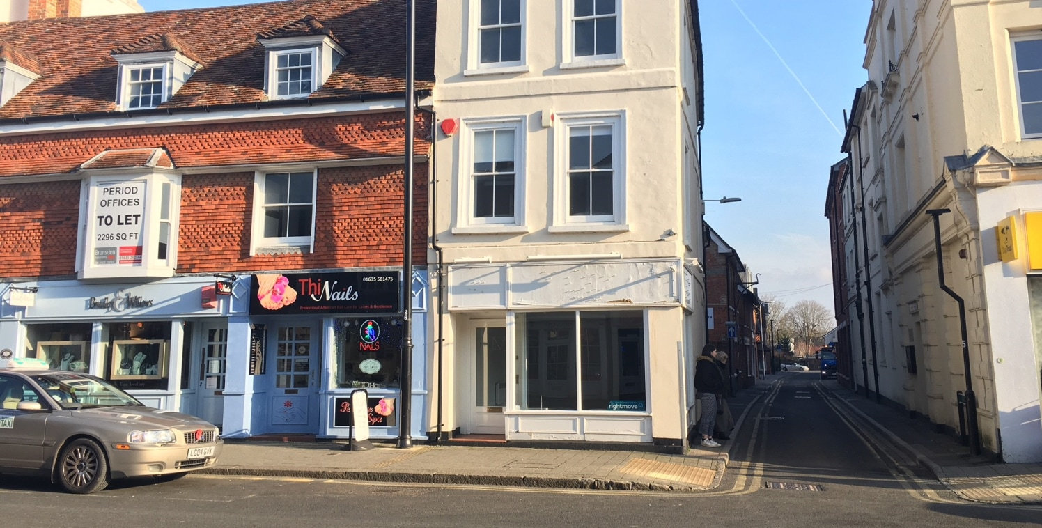 The property comprises a lock-up retail unit situated in Northbrook Street, Newbury.  The property includes main retail area which has been split into two. The space includes display window with return frontage to Park Street, recessed doorway, elect...
