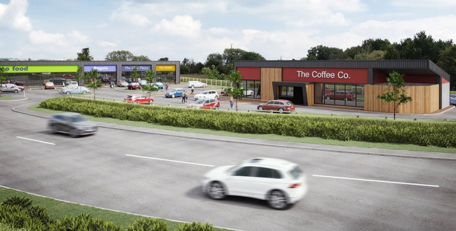 The development will comprise three A5/retail units, a convenience store and a drive-thru restaurant with communal service yard, associated landscaping and 50 car parking spaces. Hawke Ridge Business Park is a £50million 35 acre mixed use development...