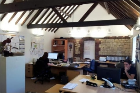 Beautiful barn conversion office