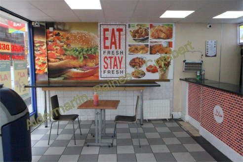 ABC Estates are pleased to offer this restaurant/takeaway commercial property TO LET. The property consists of a Large seating area, kitchen and extra storage in a form of a basement and two large rooms....