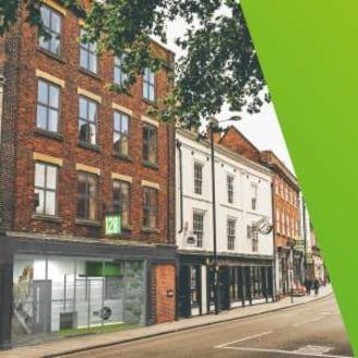 First Class offices with secure car parking for 28 vehicles. Exceptional specification with AC and LED lightings. Within the historical cathedral quarter close to amenities....