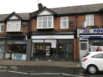 The property comprises a ground floor shop which is currently trading as a hairdressers with a total net internal floor area approximately 990/92m2.\n\nThe first floor flat comprises 5 rooms with a separate bathroom and a kitchen, which is vacant....