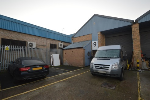 The property comprises an end of terrace industrial unit of steel framed and brick-work construction under a dual pitched roof.  The warehouse spaces benefits from a single roller shutter loading door to the front, three phase electricity and WC faci...