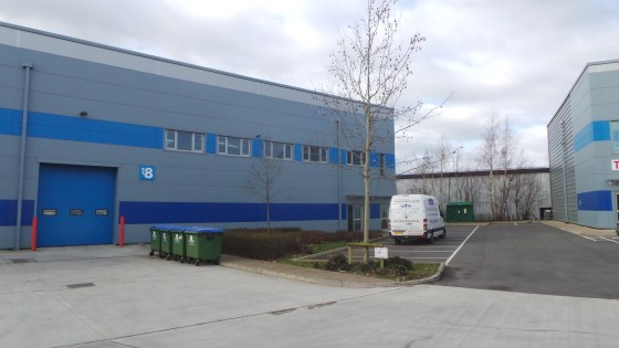 Unit 8 forms one half of a pair of semi-detached units of equal size, each being some 12,500 sq ft having an eaves height of some 27 ft rising to a apex of 33 ft. The unit has an up and over folding access door along with 2 personnel doors. A mezzani...