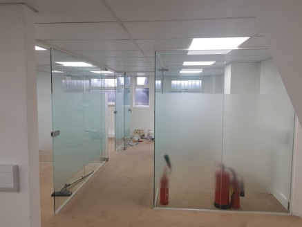 Key Features\n* Cat 5 Cabling\n* Suspended Ceiling\n* LED Lighting\n* Wifi-and Telephones included\n* Glass Partitions\n\nLocation\n\nThe premises are situated on Oaklands Park Avenue, located conveniently off High Road, Ilford (A118). Ilford and Sev...