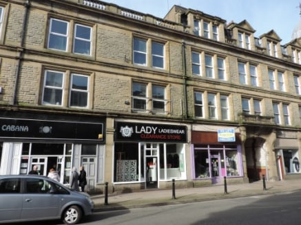 A substantial four storey stone built retail premises located in Accrington Town Centre.\n\nThe property is positioned close to the Town Hall, the markets and opposite a substantial JD Wetherspoons public house....