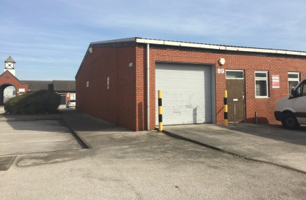 2,416 sq ft unit available  Warehouse with three office/ storage areas, WC, roller shutter and personnel door.   Plentiful car parking on site.  2,416 sq ft  £12,100 per annum