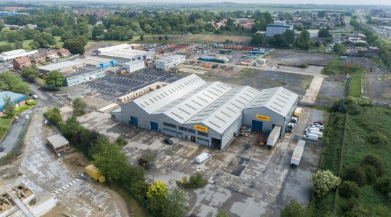 1,016.95 sq m (10,946 sq ft). High Bay Production/Warehouse Unit. 76.70 sq m (825 sq. ft.) office space. Large Secure Service Yard. Eaves Height 9m. 5 Tonne Crane.