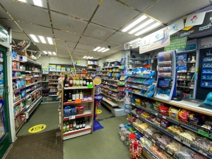 The property comprises a ground floor retail unit currently used as a convenience store. The property is split into front retail area, under stairs storage and then rear storage area with WC and kitchen.  The retail space includes recessed central do...