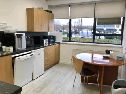 Sandringham House is a detached, modern office building and the accommodation is available on the ground floor.  The building is of steel frame construction with brick elevations, a tiled pitched roof with attractive ribbon glazing throughout with po...