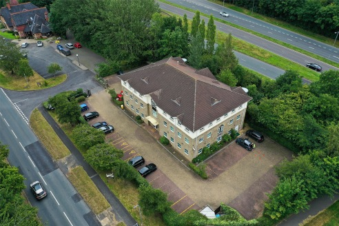 The property is a modern purpose-built office building situated in landscaped grounds with good on-site parking provision. The building is arranged over the basement, ground, first and second floor and is a multi-let investment opportunity.