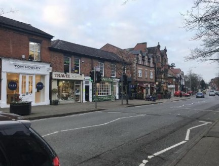 Retail unit comprising 620 sq ft to let in Alderley Edge.  The property is available by way of an Effectively Full Repairing & Insuring lease at a rental of £23,000 per annum.