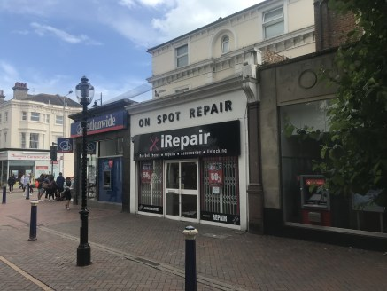 SHORT-TERM LET OPPORTUNITY  Ground floor retail unit in prime location in Eastbourne town centre. Basement storage.
