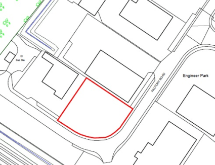 A storage compound site occupying a prominent corner position.  0.43 Acres  Leasehold - On application
