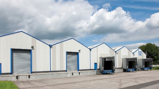 5 drive in loading doors. 3 dock level loading doors. 2 tailgate loading doors. Eaves height 5.7 m. Lighting throughout. Fitted offices. Consent for B1(c), B2 and B8 uses. Dedicated car parking spaces.