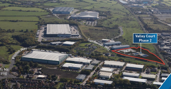 Proposed High Specification Industrial / Business Space Units  9,000 sq ft - 20,400 sq ft  £6 per sq ft leasehold  £95 per sq ft freehold
