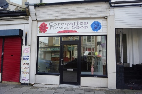 Double fronted shop premises located on the fringe of the Town Centre close to Debenhams and all attractions. Split level sales shop provides approx. 28sqm (300 sq ft) with wc and basement store. New lease, rent £90 a week....