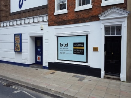 A 245 sq ft ground floor office premises providing a large display window. Located on Foregate Street which is within walking distance of Worcester City Centre.