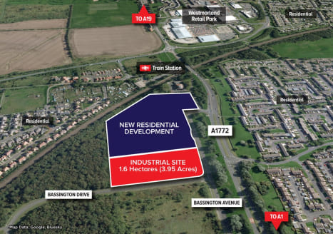 Prominent freehold development site. 1.6 Hectares (3.95 Acres).