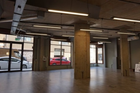 Available immediately Bethnal green - Corner fronted ground floor fully fitted Office/Studio/Production Unit totalling 4,413 sq. Ft. (approx.) rent reduced to £20 per sq. Ft. Exclusive....