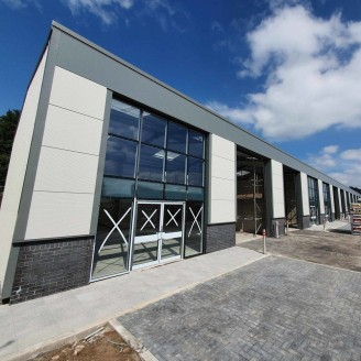 Brand new industrial units, purpose built for B1 and B8 Commercial Use. Other uses may also be suitable, subject to obtaining the necessary planning consent.\n\nThe units are of steel portal frame construction with glass personnel entrances and rolle...