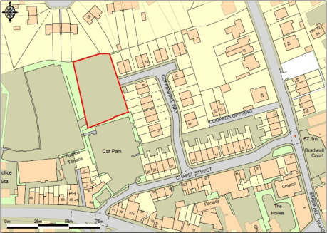 The site comprises of an area of self-contained, fenced land in a predominantly residential area with access from Coppenhall Way to the east, via a Right of Way held by Cheshire East Council over the recently built Seddons Residential site. (Access v...