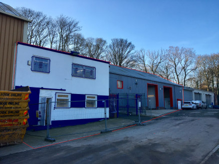The property comprises a terrace of steel frame industrial units under a pitched king truss, sheet profile clad roof incorporating translucent roof lights each with loading access and a working height of 5.37m. All of the units have the benefit of 3...