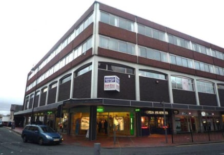 Two floors of offices situated in Wrexham town centre available to let.  8000 sq ft - 16,000 sq ft  Leasehold from £8.00 per sq ft
