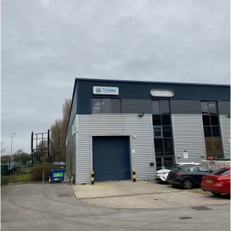 The property comprises of a modern high bay warehouse and benefits from the following:\n\n- Steel portal frame construction\n- C6.1 metre eaves\n- Access via full height electric loading door\n- 30kn per m2 floor loading\n- The site entrance is secur...