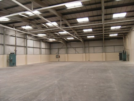 Security Fenced Forecourt. 3 Phase Electricity and Mains Gas. Ground Floor Offices. Loading Door 4m Wide by 4.6m High. Floor mounted mains gas heaters to the production area.