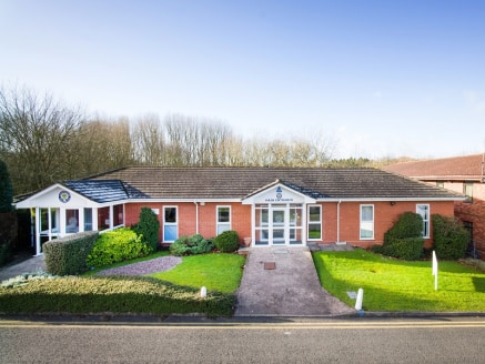 Detached single storey 2,902 sq ft open plan office accommodation. Located on Hampton Lovett Trading Estate Droitwich with good on site car parking.