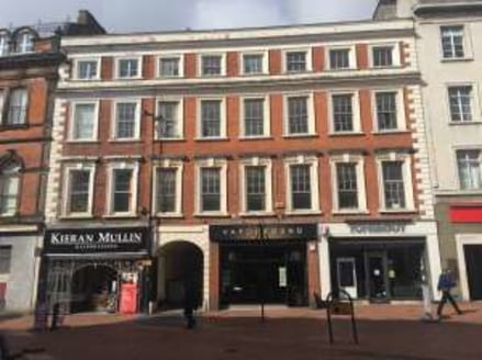 City centre retail unit. Fully let to Capvar Media until September 2021....