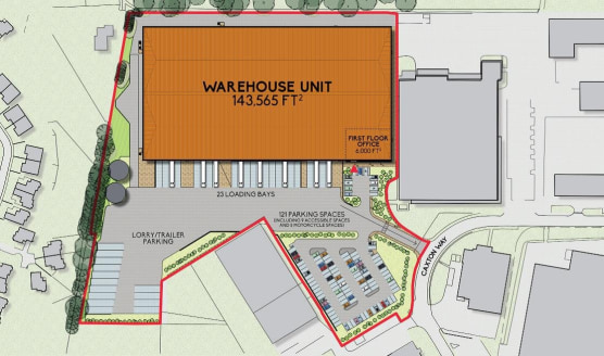T150 will be situated off Caxton Way, Thetford on the site of a<br>former food processing plant. Caxton Way is one of the established industrial<br>areas of Thetford, located off London Road 2 miles to the south-west of the<br>town centre.