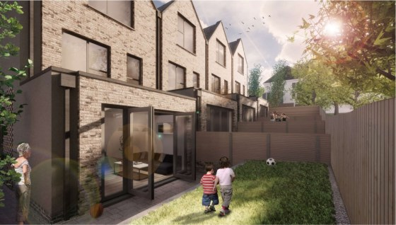 Freehold development opportunity with planning permission awaiting decision for x4 four-bedroom terraced houses.
