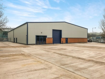 The property is part of a small development of terraced, industrial/warehouse units which are currently being constructed. The units are to benefit from the following features:\n\n* Steel portal frame construction\n* Clear haunch height of 6 meters\n...