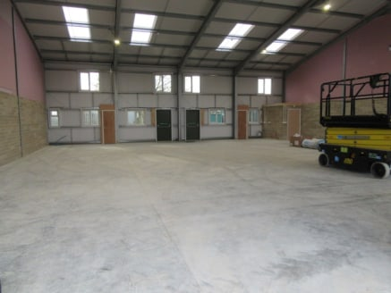 NEWLY CONSTRUCTED QUALITY BUSINESS UNITS TO LET (3,060 SQ FT) - PERMITTED CONSENTS FOR B1, B2 & B8 USES | Property features - connected to 3 phase power, LED lighting, approximate 4.8m eaves height, 2x full height loading doors, steel personnel doors...