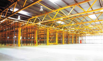 High bay racked warehousing under refurbishment. Good access to J63 A1(M). Dock level and level access doors. Eaves height up to 10.4m. New LED lighting. New power distribution throughout. Expansion land available.